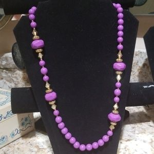 Vintage Laguna purple lucite necklace PM 708